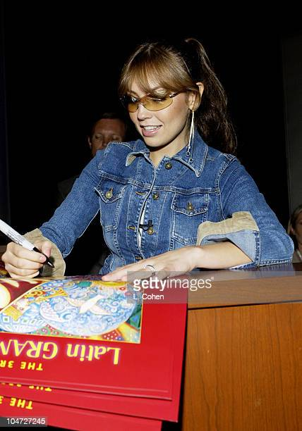 Thalia during 3rd Annual Latin GRAMMY Awards Mentor Session with Thalia at The Kodak Theater in Hollywood California United States