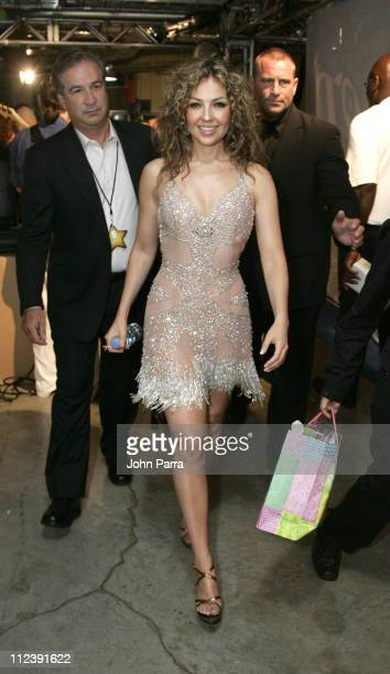Thalia during Premio Juventud AwardsBackstage at University of Miami Bankunited Center in Miami Florida United States