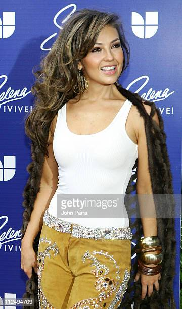 Thalia during Selena iVIVE Tribute Concert Arrivals at Reliant Stadium in Houston Texas United States