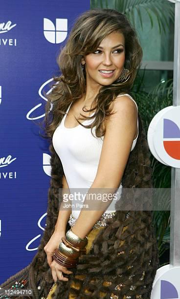 Thalia during Selena iVIVE Tribute Concert Arrivals at Reliant Stadium in Houston Texas United States