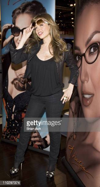 Thalia during Thalia Appearance at Vision Expo East to Promote Her 2007 Eyewear and Sunwear Collections at Jacob K Javits Center in New York City,...