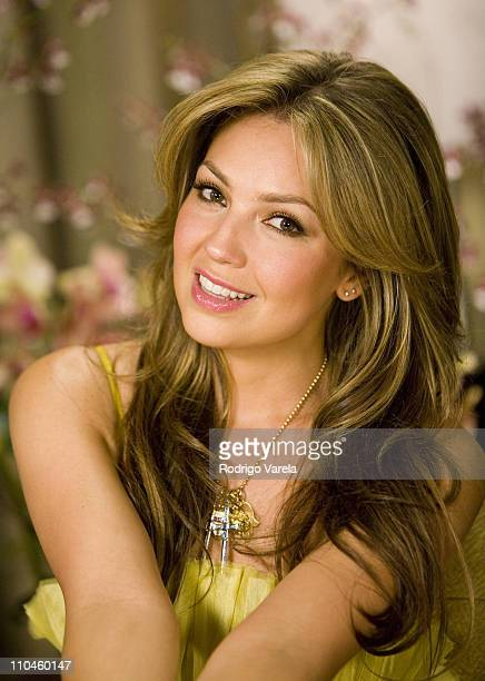 Thalia during Thalia Interviews with Candela Ferro for E Entertainment at Mandarin Oriental Hotel in Miami Florida United States