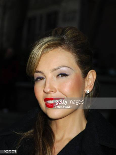 Thalia during The Heart Truth Red Dress Collection Fashion Show Arrivals and Departures at The Olympus Fashion Week in New York New York United States