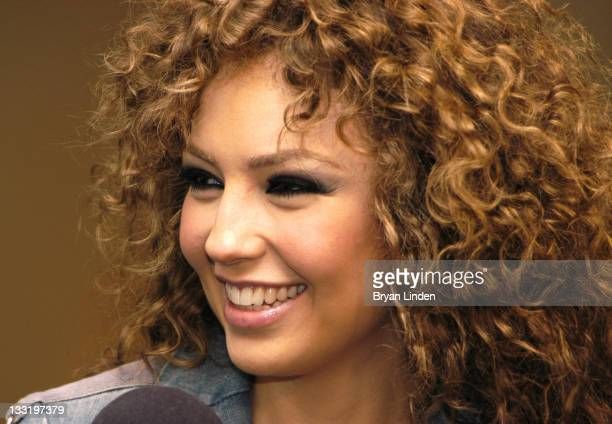 Thalia in the Press Room during KIIS FM's Jingle Ball 2003 Backstage at The Staples Center in Los Angeles California United States