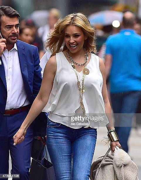 Thalia is seen in Midtown on May 11 2015 in New York City
