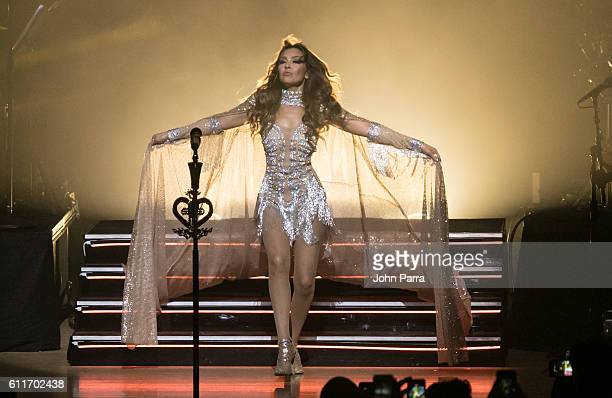 Thalia performs in her Latina Love Tour at Adrienne Arsht Center on September 30 2016 in Miami Florida
