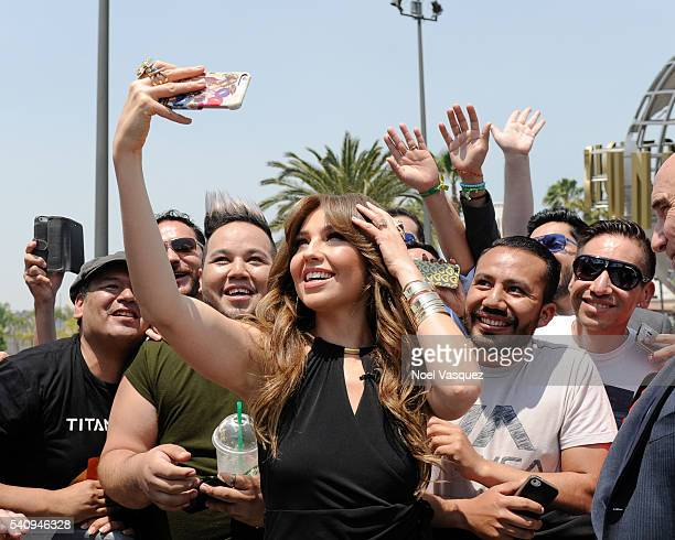 Thalia Sodi visits 'Extra' at Universal Studios Hollywood on June 17 2016 in Universal City California