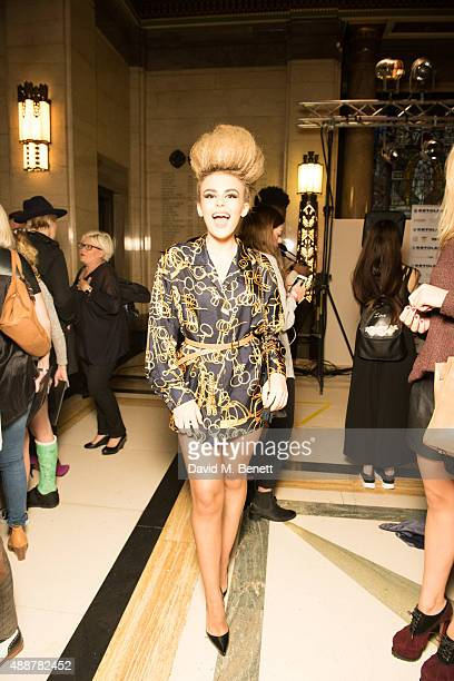 Thalia Storm attends the launch of new book Art Makeup by Lan Nguyen Grealis at The Freemason's Hall on September 17 2015 in London England