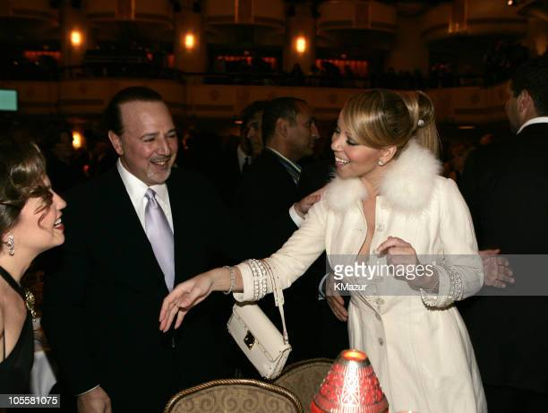 Thalia Tommy Mottola and Mariah Carey during 20th Annual Rock and Roll Hall of Fame Induction Ceremony Dinner at Waldorf Astoria in New York City New...