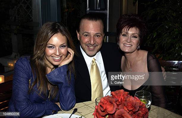 Thalia Tommy Mottola and Sharon Osbourne during The 45th Annual GRAMMY Awards Private GRAMMY AfterParty at Bryant Park Grill in New York City New...