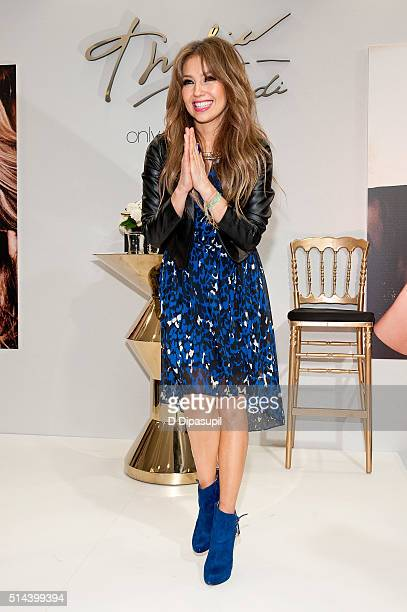 Thalia visits Macy's Herald Square on March 8 2016 in New York City