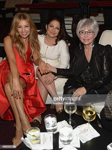 ThaliaGloria Estefan and Rita Moreno attends the 'The Latin Explosion A New America' Premiere Screening on November 10 2015 in New York City