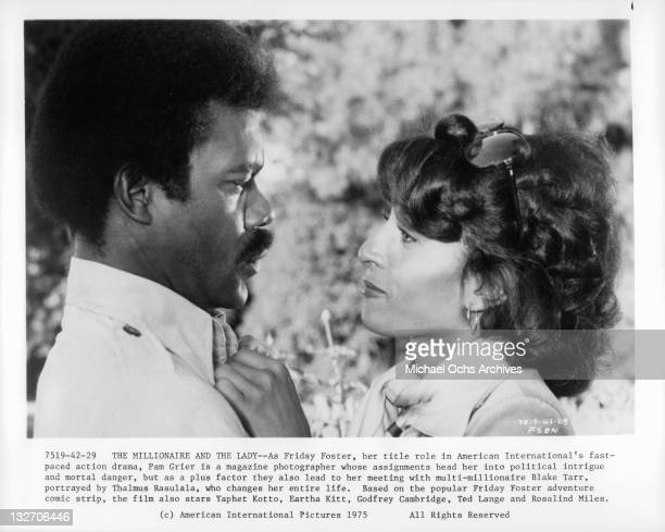Thalmus Rasulala and Pam Grier in a scene from the film 'Friday Foster' 1975