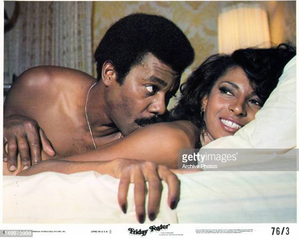 Thalmus Rasulala in bed with Pam Grier in a scene from the film 'Friday Foster', 1975.