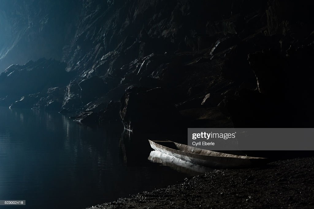 Tham Khon Xe River Cave Laos : Stock Photo