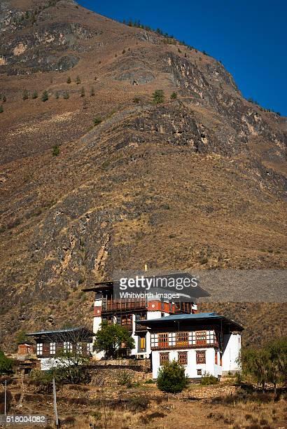 thamchhog lhakhang tibetan buddhist temple near paro, bhutan - paro district stock pictures, royalty-free photos & images
