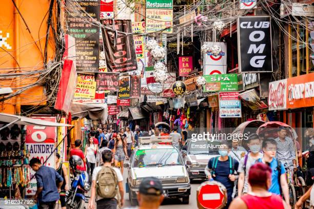 Thamel, Kathmandu, Nepal - May 1, 2016