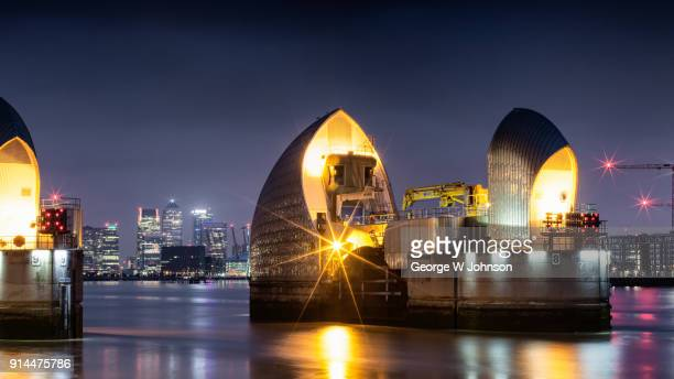 thames barrier i - woolwich stock pictures, royalty-free photos & images