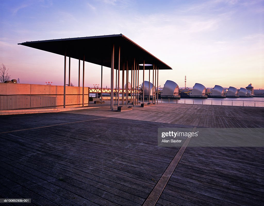 Thames Barrier park : Foto stock