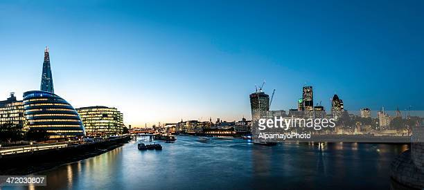 Thames Cityscape by dusk, London UK - V