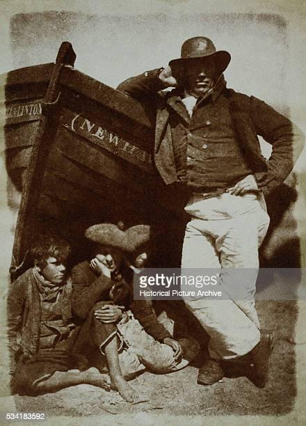 Thames Fisherman and Boys by David Octavius Hill and Robert Adamson