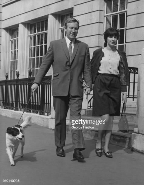 Thames lighterman David Corbett arrives at the offices of loss adjusters Toplis Harding in the City of London with his dog Pickles and his wife...