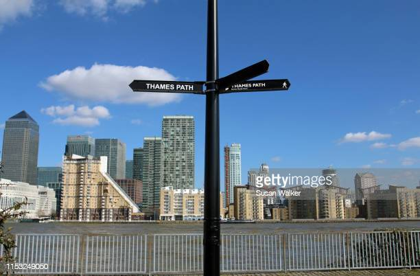 thames path - stratford london stock pictures, royalty-free photos & images