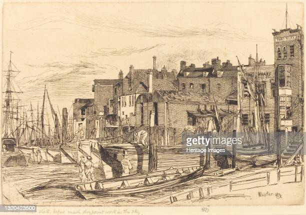 Thames Police, 1859. Artist James Abbott McNeill Whistler.