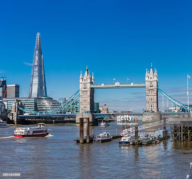 Thames river, Tower Bridge and The Shard