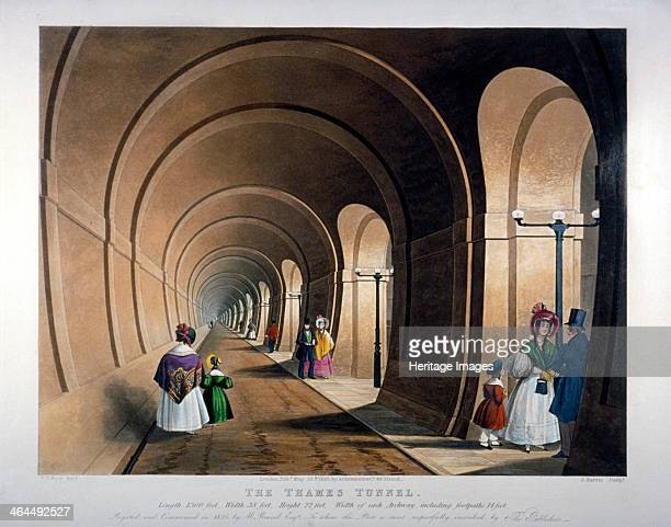 Thames Tunnel London 1835 The Thames Tunnel connecting Wapping and Rotherhithe was the first underwater tunnel in the world Completed as a foot...