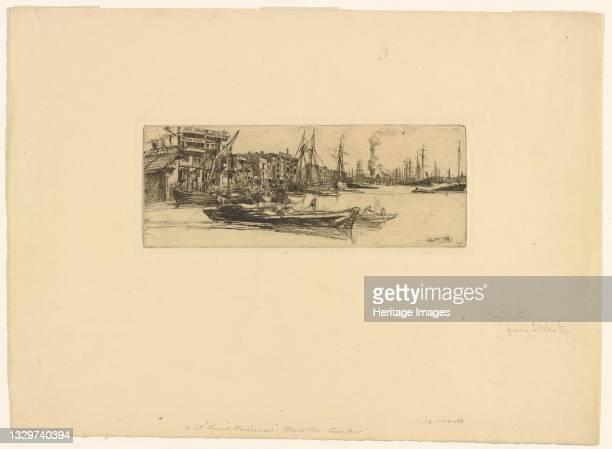 Thames Warehouses, 1859. Artist James Abbott McNeill Whistler.