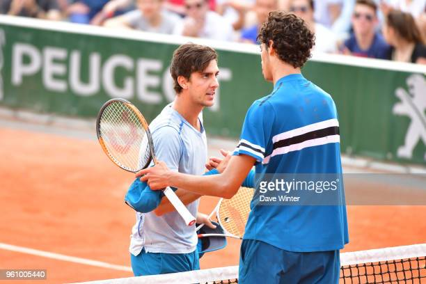 Thanasi Kokkinakis beats Jaimee Floyd Angele during qualification for the French Open 2018 at Roland Garros on May 21 2018 in Paris France