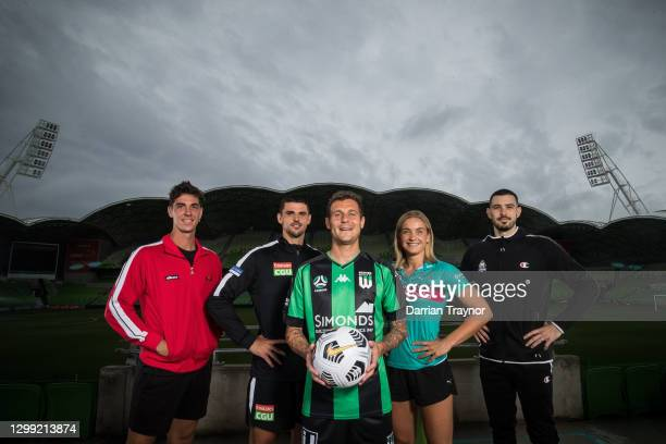 Thanasi Kokkinakis, Scott Pendlebury of Collingwood Football Club, Alessandro Diamanti of Western United, Elizabeth Watson of the Melbourne Vixens...