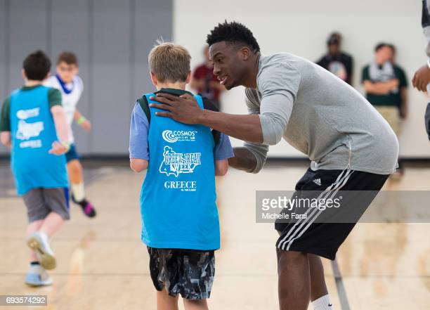 Thanasis Antetokounmpo hosts a Greek Freak Week basketball clinic at Adelphi University featuring a lineup of former and current basketball stars...