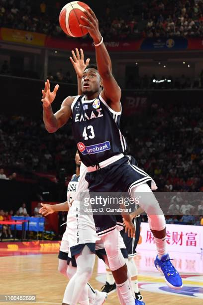 Thanasis Antetokounmpo of Greece goes to the basket against the USA during the Second Round of the 2019 FIBA Basketball World Cup on September 7 2019...