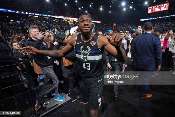 Thanasis Antetokounmpo of the Milwaukee Bucks looks on after the game against the Charlotte Hornets as part of NBA Paris Games 2020 on January 24...