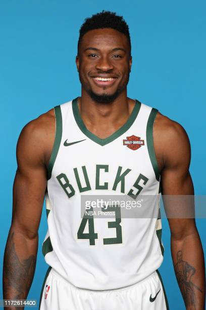 Thanasis Antetokounmpo of the Milwaukee Bucks poses for a head shot during Media Day at Fiserv Forum on September 30 2019 in Milwaukee Wisconsin NOTE...