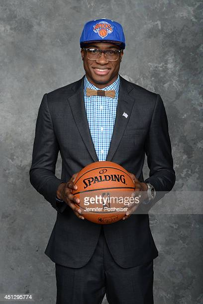 Thanasis Antetokounmpo the 54th pick overall by the New York Knicks poses for a portrait during the 2014 NBA Draft at the Barclays Center on June 26...