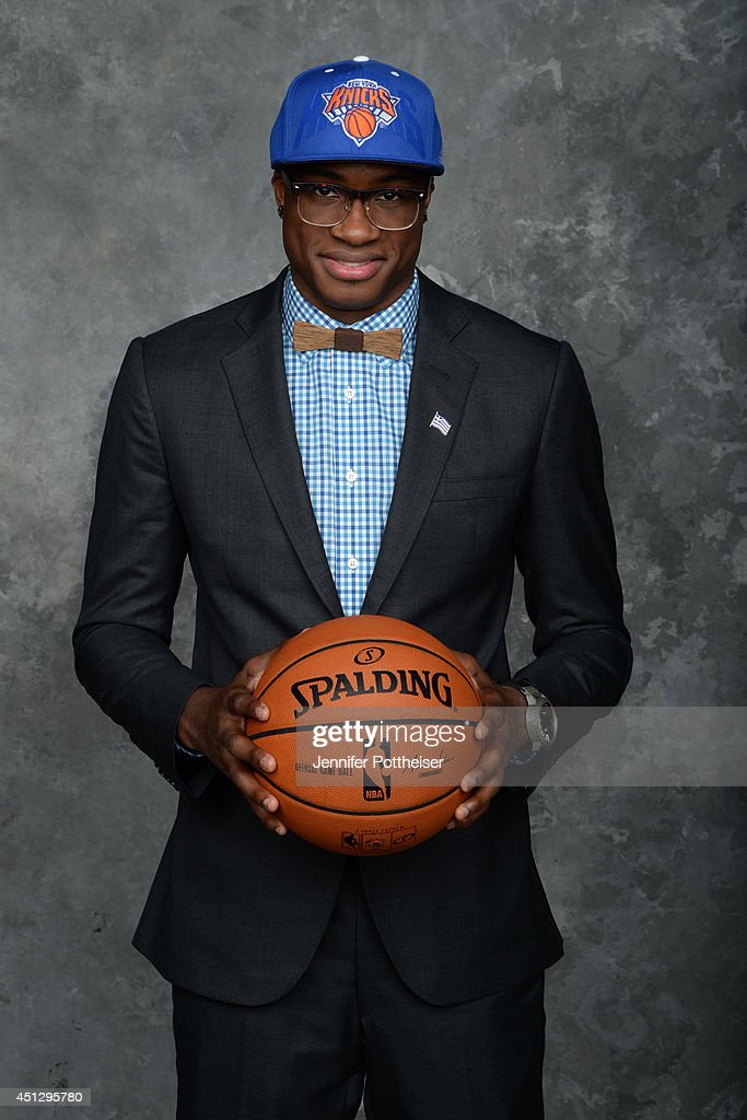 Thanasis Antetokounmpo, the 54th pick overall by the New York Knicks, poses for a portrait during the 2014 NBA Draft at the Barclays Center on June 26, 2014 in the Brooklyn borough of New York City.