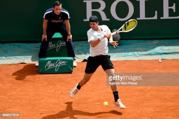 Thanassi Kokkinakis of Australia during the Masters 1000 Monte Carlo first round Day 1 at Monte Carlo on April 15 2018 in Monaco Monaco