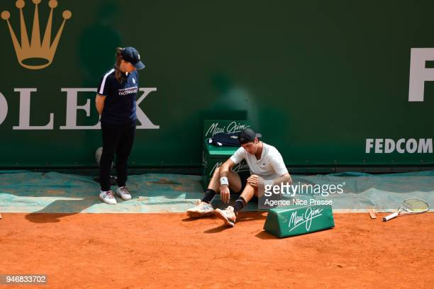 Thanassi Kokkinakis of Australia during the Masters 1000 Monte Carlo Day 1 at Monte Carlo on April 15 2018 in Monaco Monaco