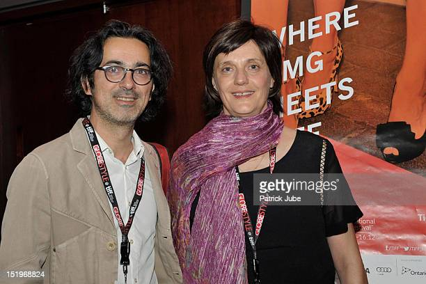 Thanassis Karathanos and Nancy Mitchell attend the 'Our Little Differences' premiere during the 2012 Toronto International Film Festival at the...