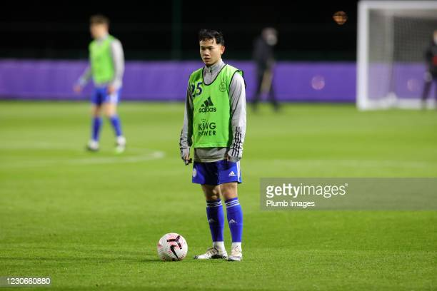 Thanawat Suengchitthawon of Leicester City ahead of the Premier League 2 match between Leicester City and Manchester United at Leicester City...