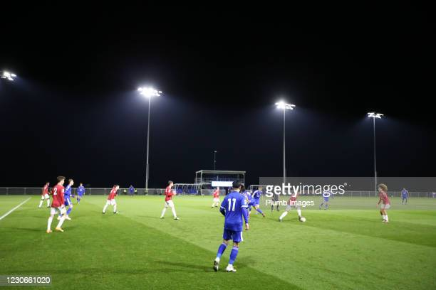Thanawat Suengchitthawon of Leicester City during the Premier League 2 match between Leicester City and Manchester United at Leicester City Training...