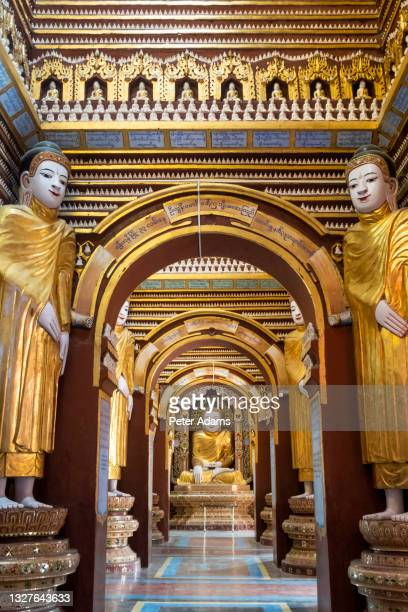 thanboddhay paya temple, monywa, myanmar, asia - peter adams stock pictures, royalty-free photos & images