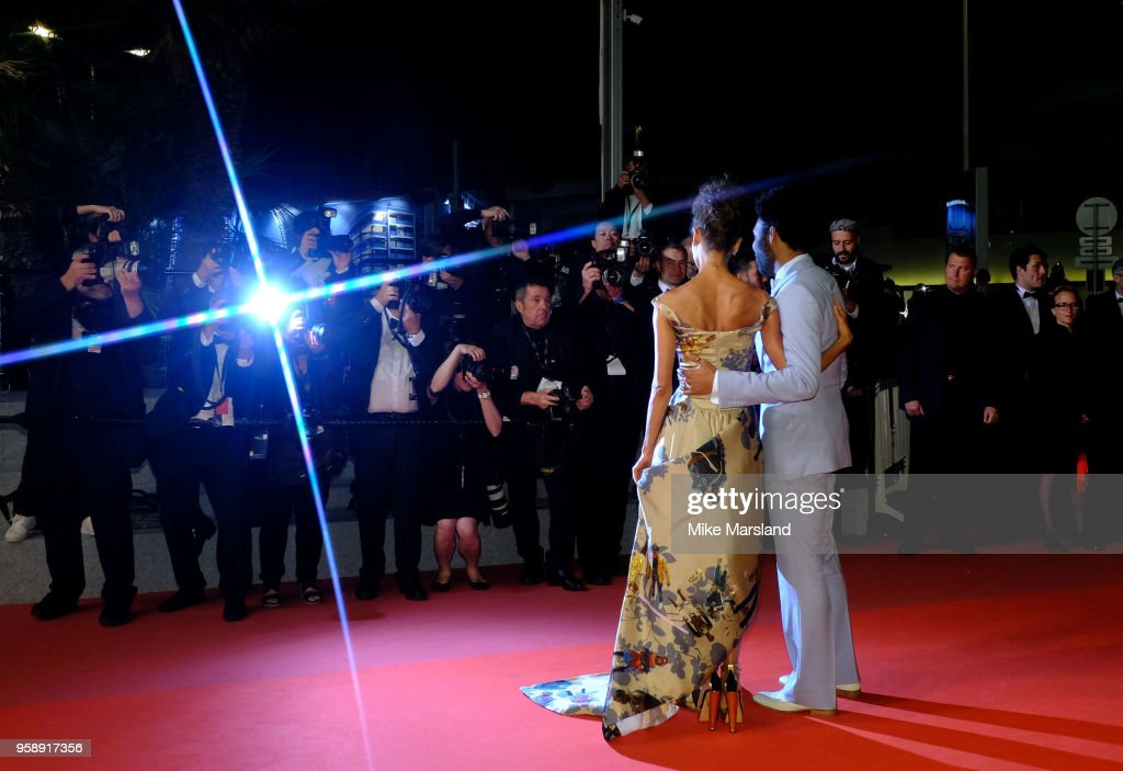 Thandie Newton and Donald Glover attends the screening of 'Solo: A Star Wars Story' during the 71st annual Cannes Film Festival at Palais des Festivals on May 15, 2018 in Cannes, France.