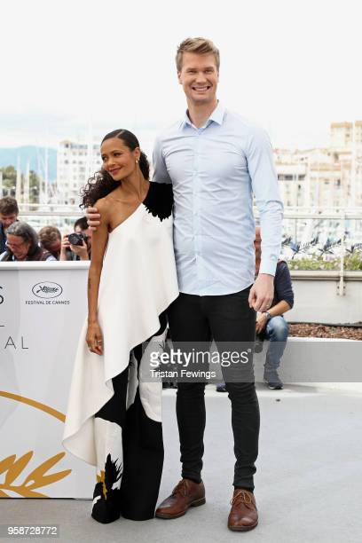 "Thandie Newton and Joonas Suotamo attend the photocall for ""Solo: A Star Wars Story"" during the 71st annual Cannes Film Festival at Palais des..."