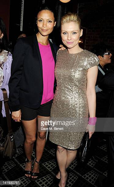 Thandie Newton and MyAnna Buring attend an after party for 'A Memory A Monologue A Rant And A Prayer' a onenight only performance produced by Lauren...