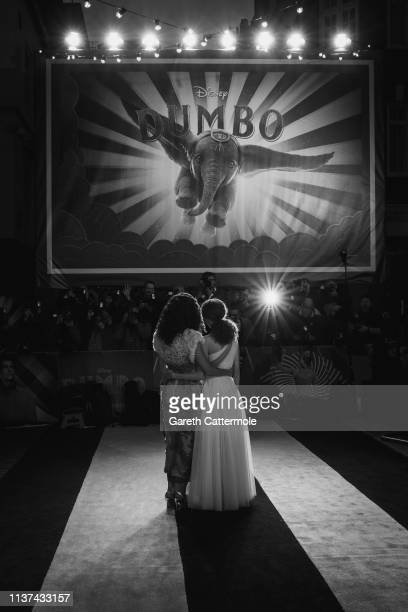 Thandie Newton and Nico Parker attend the European Premiere of Disney's Dumbo at The Curzon Mayfair on March 21 2019 in London England
