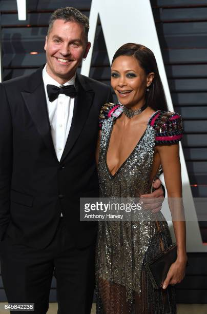 Thandie Newton and Ol Parker attend the 2017 Vanity Fair Oscar Party hosted by Graydon Carter at Wallis Annenberg Center for the Performing Arts on...